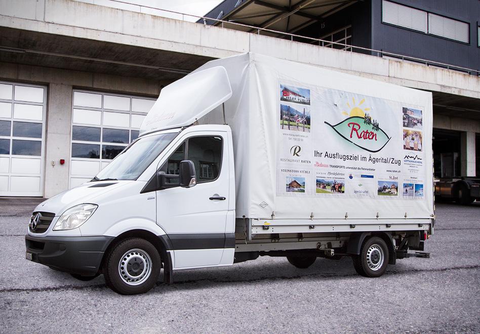 Mercedes Benz, Sprinter 316 CDIP1050611, Blachenaufbau mit Hebebühne, 6 Palettenplätze, Nutzlast: 1000 kg, Hebebühne: 750 kg Hubkraft