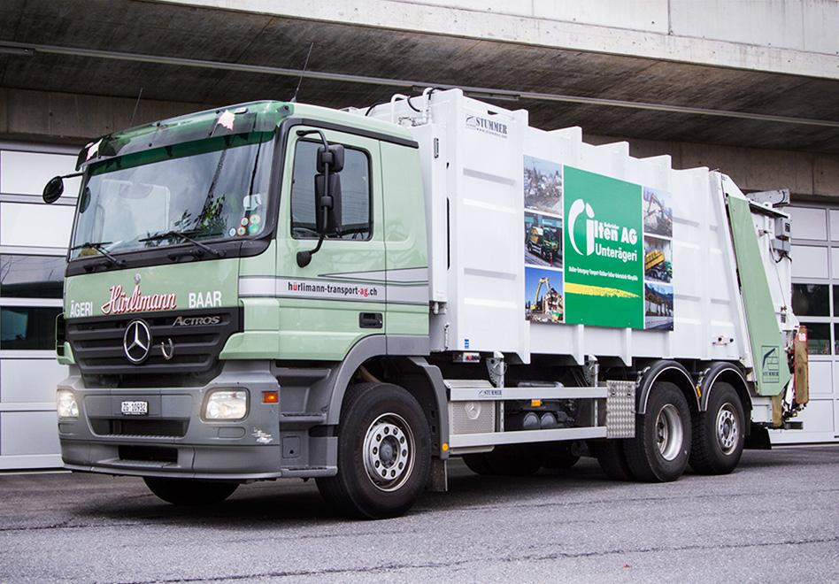 Mercedes Benz Actros 2635 Hecklader, Ladevolumen: 21 Kubikmeter, Nutzlast: 10.5 Tonnen, Containerentleerung bis 800 Liter